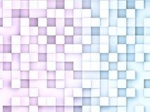 illustratio 3D der Zusammenfassung berechnet Hintergründe Abstraktes Datenkonzept Rosen- und Blauquadrate lizenzfreie abbildung