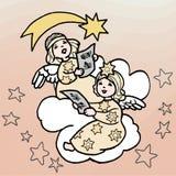 Illustratio de los ángeles de la Navidad ilustración del vector
