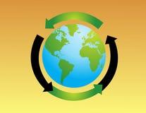 Illustratio do vetor do globo do mundo Imagem de Stock Royalty Free