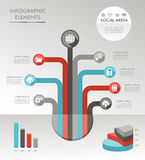 Illustratio dos ícones do diagrama do conceito da árvore de Infographic ilustração royalty free