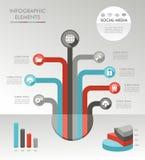 Illustratio för symboler för diagram för Infographic trädbegrepp royaltyfri illustrationer