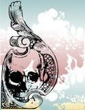 Illustratio floral do crânio do dinheiro Imagem de Stock