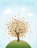Illustratio global de composition en vintage d'automne illustration stock