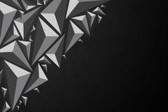 Illustratio triangular geométrico negro del estilo del polígono del extracto 3d Fotos de archivo libres de regalías