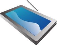 Illustratio van het PCnotitieboekje van de tablet Stock Foto