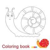 Illustratiol de vecteur d'escargot pour le pook de coloration illustration de vecteur