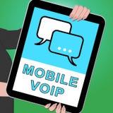 Illustration à bande large de la téléphonie 3d d'apparence principale mobile de Voip Images libres de droits