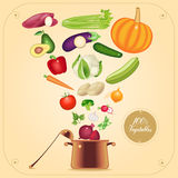 Illustration à cuire végétarienne saine de vecteur de concept Illustration de Vecteur