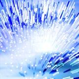 Illustration à fibres optiques de ville Photo stock