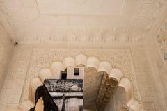 Illustration à l'intérieur d'Amer Palace Image stock