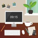Illustration à la maison d'espace de travail Photo libre de droits