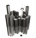 illustration à trois dimensions de ville illustration libre de droits