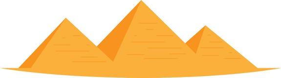 Illustration égyptienne de pyramides illustration de vecteur