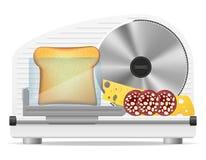 Illustration électrique de vecteur de trancheuse de cuisine Photos stock