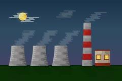 Illustration électrique de vecteur de station de fabrication illustration de vecteur