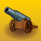 Illustration énorme antique de vecteur d'art de bruit de canon illustration libre de droits