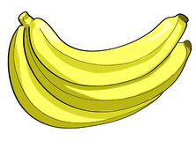Illustration épluchée par banane Photos stock
