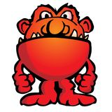 Illustration étrangère idiote de vecteur de bande dessinée de créature de monstre Image libre de droits