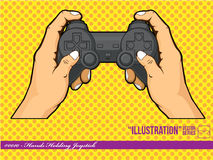 Illustration #0010 - Hands Holding Joystick Royalty Free Stock Image
