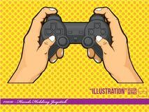 Illustration #0010 - Hands Holding Joystick Royalty Free Stock Image