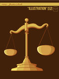 Illustration #0014 - Justice Scale Royalty Free Stock Image