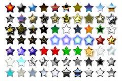 Illustration 01 cinq étoiles Photographie stock