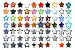 Illustration 08 cinq étoiles Photo stock
