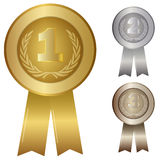 Illustration of 1st; 2nd; 3rd award Stock Photos