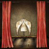 Illustration. With a theater stage, curtains, wings Royalty Free Stock Image