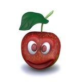 illustration 3d av det röda äpplet Royaltyfri Fotografi
