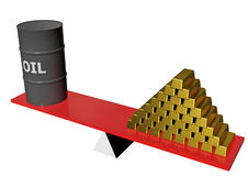 Illustration 3d, price of oil grow up. Price of oil grow up, petrol business background Stock Photo