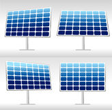 Illustration of 4 solar panels Stock Photos