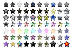 Illustration 5 Star 03. Bunch of 5 star shape illustrations with various graphic effects stock illustration