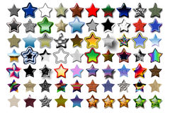 Illustration 5 Star 05. Bunch of 5 star shape illustrations with various graphic effects stock illustration