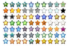 Illustration 5 Star 06. Bunch of 5 star shape illustrations with various graphic effects stock illustration