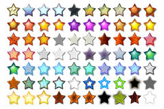Illustration 5 Star 07. Bunch of 5 star shape illustrations with various graphic effects vector illustration
