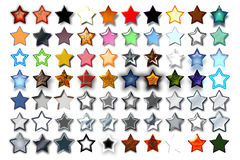 Illustration 5 Star 08. Bunch of 5 star shape illustrations with various graphic effects royalty free illustration
