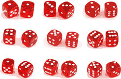 Illustration of 9 sets of dice. (layers included Royalty Free Stock Photos
