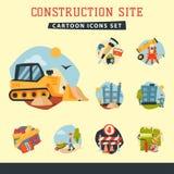 Illustration aérienne de vecteur de développement des affaires de bâtiment de grue d'architecture d'équipement d'industrie de tra illustration stock