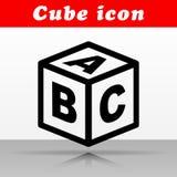 Abc cube vector icon design. Illustration of abc cube vector icon design stock illustration