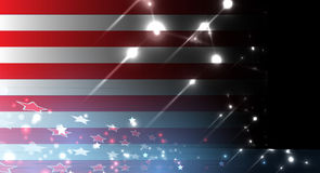 Illustration of abstract American Flag for Independence Day. fla. Illustration of abstract American Flag for Independence Day. Shiny American national flag Royalty Free Stock Photography