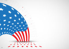 Illustration of abstract American Flag for Independence Day. fla Royalty Free Stock Image