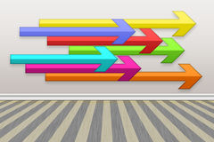 Illustration abstract arrow background. Colored arrows background Royalty Free Stock Image