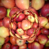 Illustration of abstract background from apples. Close-up stock illustration