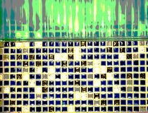 Abstract blue background composed of squares. Illustration of abstract background composed of ceramic squares royalty free stock photo