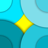 Illustration with Abstract background with different levels surfaces and circles, material design. Abstract background with different levels surfaces and circles Royalty Free Stock Photo