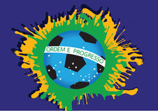 Illustration Abstract background football. Soccer form watercolor in brazil color themes idea design Stock Photo