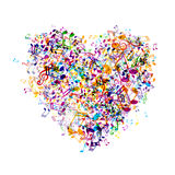 Music heart. Illustration of an Abstract Background with Music notes Stock Image