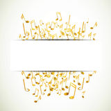 Golden music notes. Illustration of an Abstract Background with Music notes Royalty Free Stock Image
