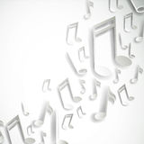 Silver music notes Stock Images